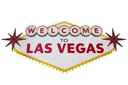 Las Vegas Sign Isolated on White photo