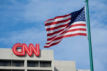ga: ATLANTA, GEORGIA - AUG 8: CNN headquarters news building August 8, 2011 in Atlanta, GA. CNN, founded in 1980 by Ted Turner,  was the first channel to provide 24-hour television news coverage.
