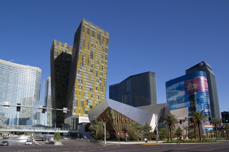 funded: LAS VEGAS - AUG 15: City Center on August 15, 2011 in Las Vegas. This mixed-use complex, 76 acres, opened in December 2010 and was the largest privately funded construction project in the history of the US. Editorial