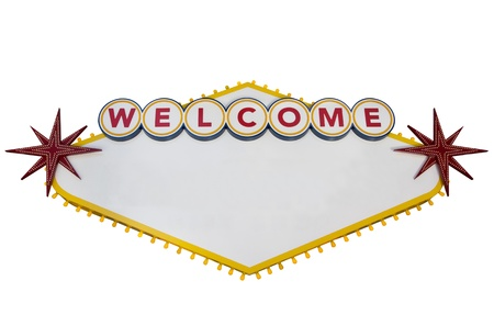 Blank Las Vegas Sign Isolated on White photo
