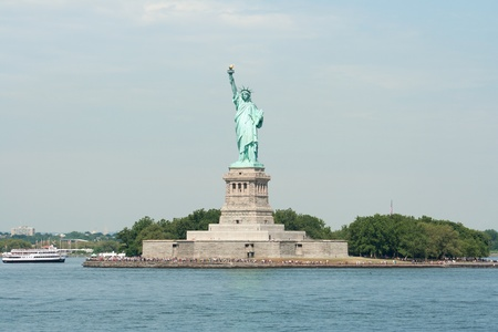 The Statue of Liberty on Ellis Island photo