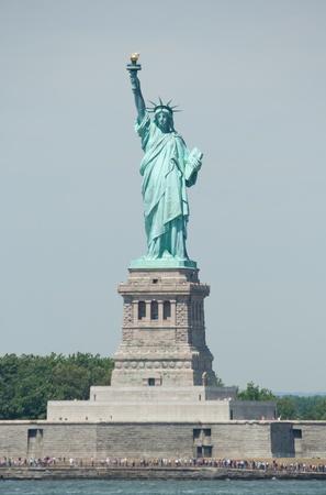 The Statue of Liberty on Ellis Island