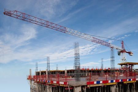 High Rise Construction Site with Crane photo