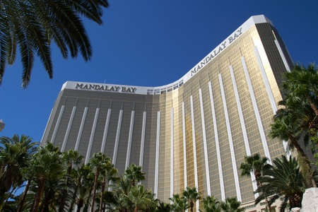 LAS VEGAS - AUG 15: Mandalay Bay Resort and Casino on August 15, 2011 in Las Vegas. The resort, which opened in 1999, has 3,309 hotel rooms, 24 elevators and a casino of 135,000 sq ft (12,500 m2).