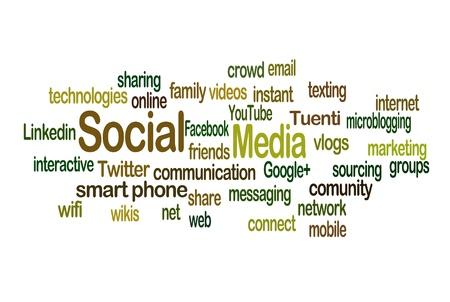 linkedin: Social Media Word Cloud in Horizontal