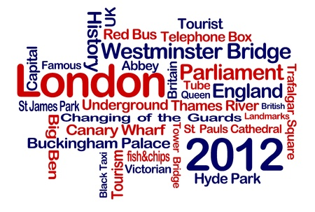 Big Ben and London Word Cloud