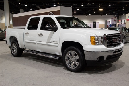 JACKSONVILLE, FLORIDA-FEBRUARY 18: A 2012 Sierra 1500 at the Jacksonville Car Show on February 18, 2012 in Jacksonville, Florida. Stock Photo - 13267126