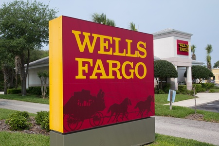 headquartered: JACKSONVILLE, FL-APR 8: A Wells Fargo Bank Branch in Jacksonville, Florida on April 8, 2012. Headquartered in San Francisco, Wells Fargo & Company was founded in 1929 and currently has 9,000 bank branches in 39 states.