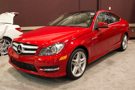 JACKSONVILLE, FLORIDA-FEBRUARY 18: A 2012 Mercedes Benz at the Jacksonville Car Show on February 18, 2012 in Jacksonville, Florida.