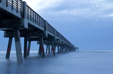Fishing Pier at a beach photo