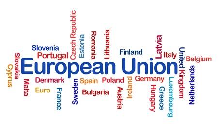 Europese Unie Word Cloud Stockfoto