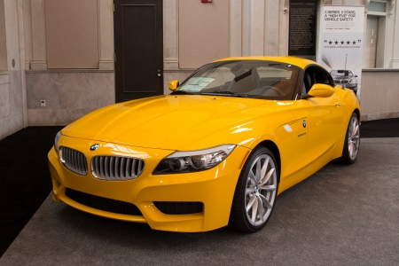 JACKSONVILLE, FLORIDA-FEBRUARY 18: A 2012 BMW Z4 sDrive35is at the Jacksonville Car Show on February 18, 2012 in Jacksonville, Florida.