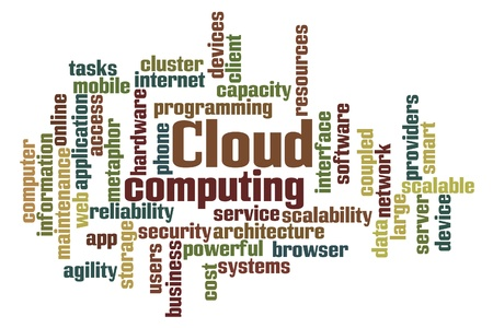 Word Cloud Computing on white background Stock Photo - 13835869