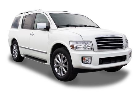Sports Utility Vehicle alleenstaande op wit