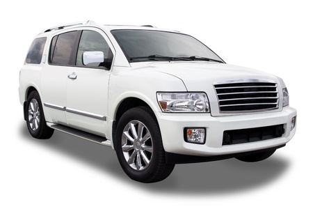 suv: Sports Utility Vehicle Isolated on White Stock Photo