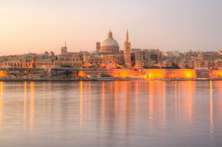 olden: Valletta, the Capital City of Malta in early morning.