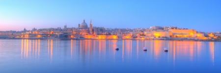 Valletta, the capital of Malta in early morning Stock Photo