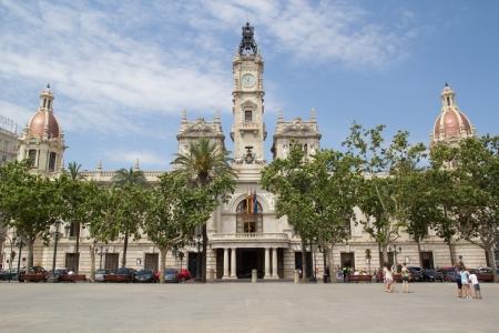 neoclassic: Valencia, Spain City Hall Building in Ayuntamiento Square