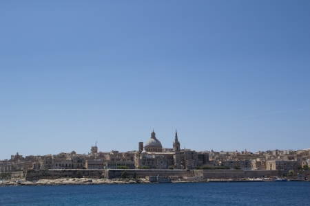 The capital city Valletta, Malta.