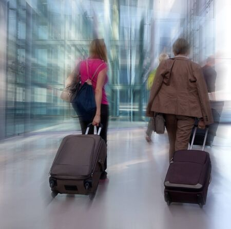 Airline passengers at the airport. Stock Photo - 15608668
