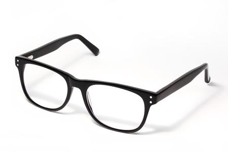 nerd glasses: Black Eye Glasses Isolated on White