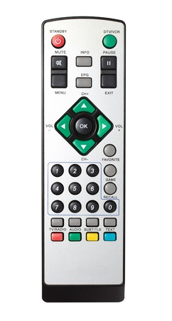 vcr: Remote control from TV, VCR, DVD, close up