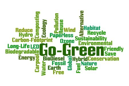 biodiesel: Go Green Word Cloud Stock Photo