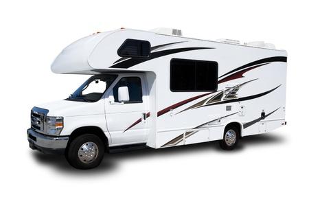모터쇼: 흰색 배경에 고립 된 오락 용 자동차