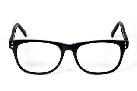 白で隔離される黒眼メガネ