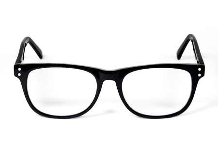 reading glasses: Black Eye Glasses Isolated on White