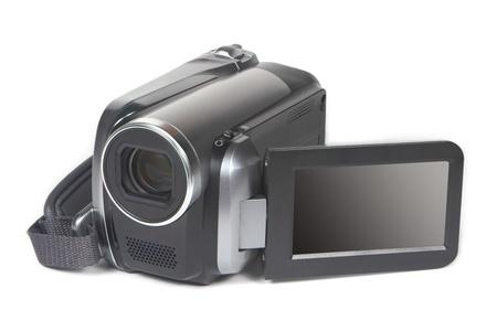 A video camera isolated on white background Archivio Fotografico
