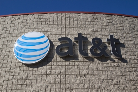 JACKSONVILLE, FL- NOVEMBER 28, 2013: An AT&T Mobility sign in Jacksonville. AT&T Mobility is the second largest wireless telecommunications provider in the United States and Puerto Rico.