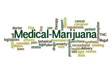 cancer drugs: Medical Marijuana word cloud on white  Stock Photo