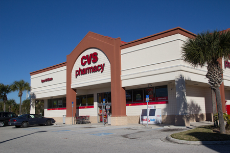 JACKSONVILLE, FL-FEBRUARY 17, 2014: A CVS Pharmacy in Jacksonville. CVS Pharmacy is the largest pharmacy chain in the United States, with more than 7,600 stores, and is the second largest US pharmacy based on total prescription revenue.