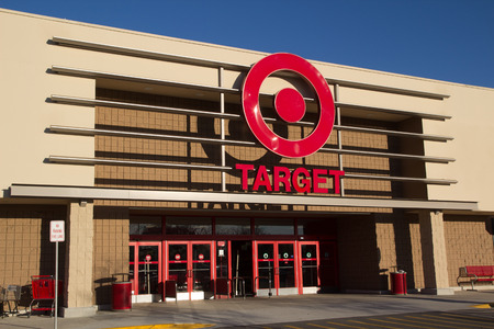 JACKSONVILLE, FL-FEBRUARY 18, 2014: A Target retail store  in Jacksonville. Target Corporation is the second-largest discount retailer in the United States and is ranked 36th on the Fortune 500 as of 2013. Stock Photo - 26097980