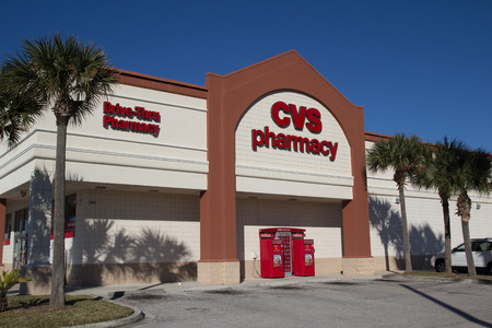 commercial medicine: JACKSONVILLE, FL-FEBRUARY 16, 2014: A CVS Pharmacy in Jacksonville. CVS Pharmacy is the largest pharmacy chain in the United States with more than 7,600 stores. Editorial