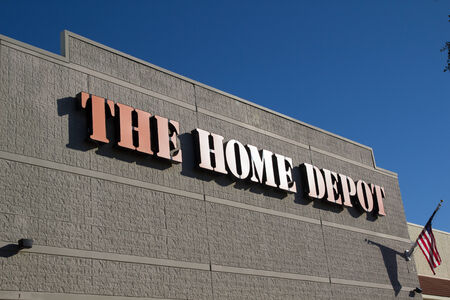 JACKSONVILLE, FL-FEBRUARY 16, 2014: A Home Depot store in Jacksonville. The Home Depot is the largest home improvement retailer in the United States, ahead of rival Lowes.