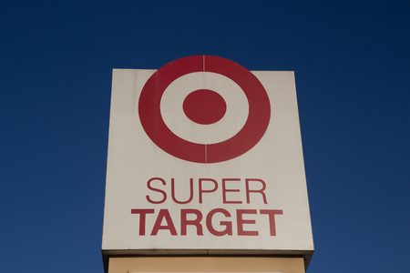 ranked: JACKSONVILLE, FL-MARCH 9, 2014: A Super Target sign in Jacksonville. Target Corporation is the second-largest discount retailer in the United States and is ranked 36th on the Fortune 500 as of 2013.