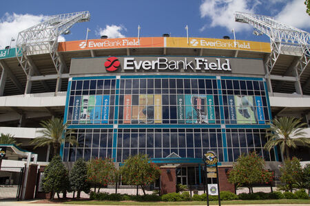 fl: JACKSONVILLE, FL - APRIL 13, 2014: EverBank Field in Jacksonville. EverBank Field is an American Football Stadium in downtown Jacksonville and the home stadium of the Jacksonville Jaguars of the National Football League. Editorial