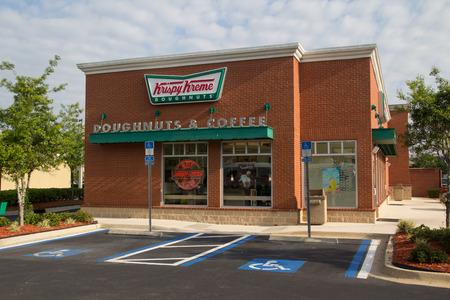 JACKSONVILLE, FL - APRIL 27, 2014: A Krispy Kreme Doughnuts store in Jacksonville. Krispy Kreme was founded on July 13, 1937 by founder Vernon Rudolph. Editorial