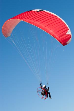 hang glider: Paraglider on Blue Sky