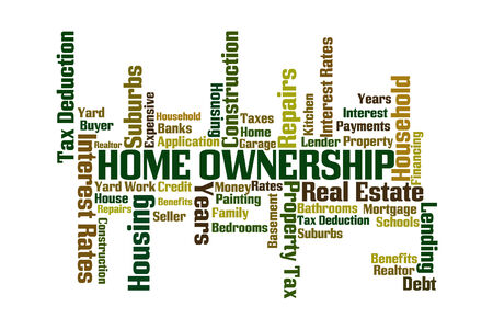 homeownership: Home Ownership word cloud on white background