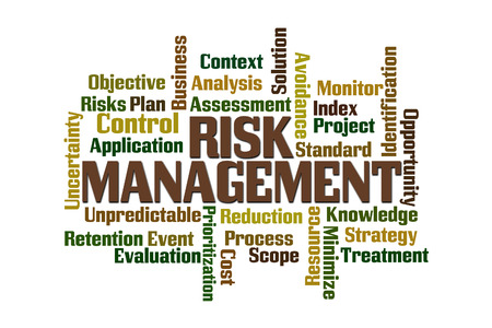 prioritization: Risk Management word cloud on white background