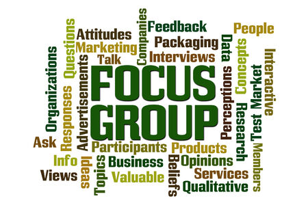 focus group: Focus Group word cloud on white background