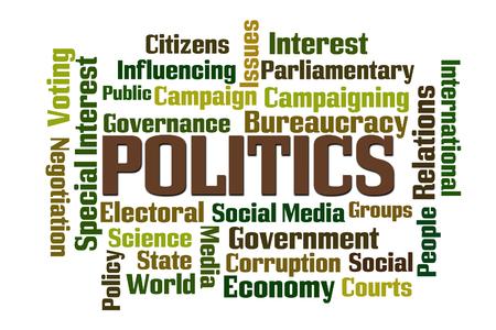 Mot de Politique nuage sur fond blanc Banque d'images - 31914766