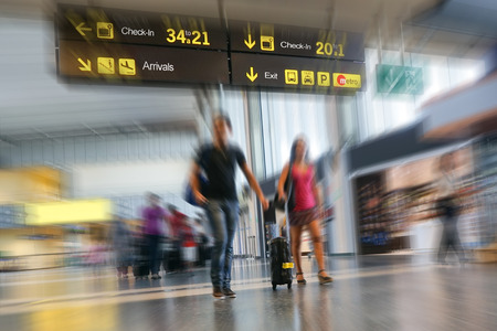 Couple at the Airport photo