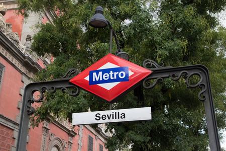 Madrid Metro Sign Sevilla Station
