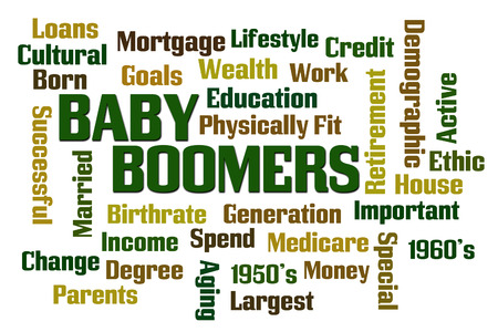 boomers: Baby Boomers word cloud on white background