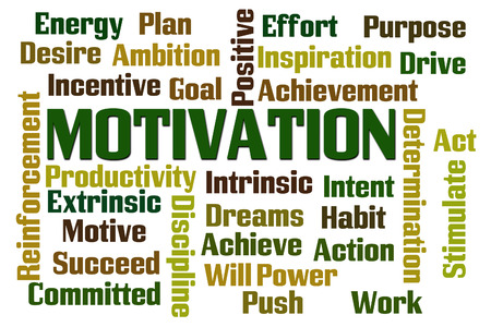 intrinsic: Motivation word cloud on white background