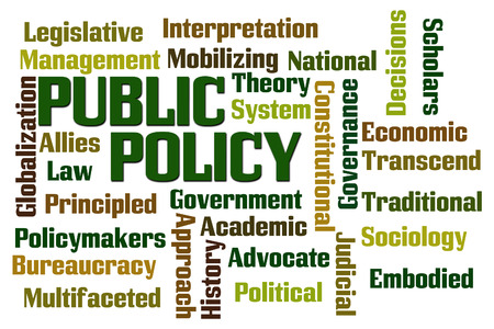 Public Policy word cloud on white  Stock fotó